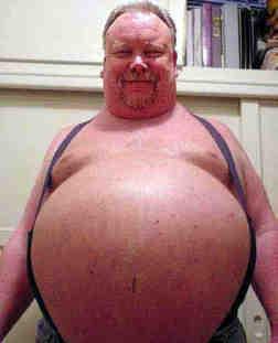er ist dick