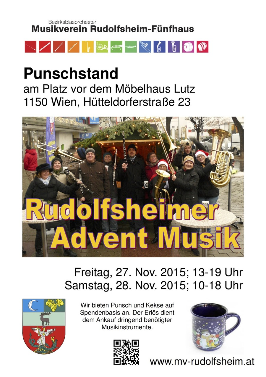 Meetpoint punschstand mit rudolfsheimer adventmusik 27 for Mobelhaus lutz