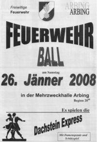 Ball der Freiwilligen Feuerwehr Arbing@Mehrzweckhalle