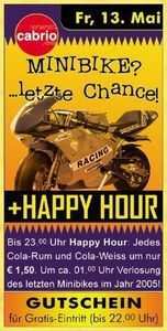 Happy Hour & Minibike-Verlosung