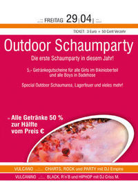 Outdoor Schaumparty