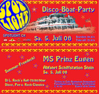 Spotlight XV - Disco-Boat-Party