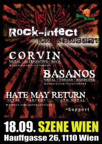 Live: Corvin / Basanos / Hate May Return