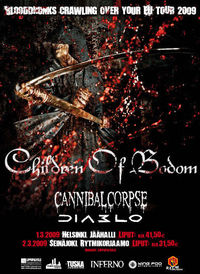 Blooddrunks crawling over your EU 2009 - Children of Bodom & Cannibal Corpse & Diablo@Gasometer - planet.tt