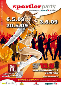 Sportler-Party mit der Crazy spark7 Action!