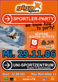 Gigasport-Sportler-Party