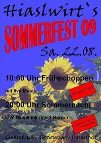 Sommerfest 09@Hiaslwirt Eferding