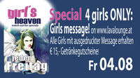 Girls message & 4. Stop Italien