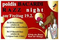 Poldis Bacardi Razz Night
