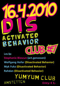 Disactivated Behavior Club # 7