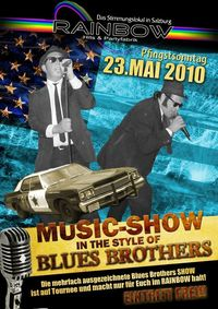 Music Show in the style of Blues Brothers