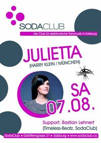 Soda Club pres. Julietta (Harry Klein/München)