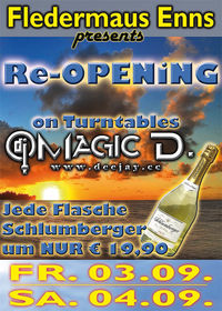 Re-Opening mit Magic D.