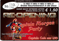 Re-opening & Captain Morgan Party