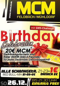 Birthday-Celebration mit SMS Chatwall