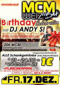 Birthday-Celebration mit DJ Andy S