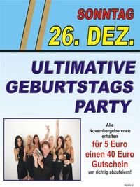 Ultimative Geburtstagsparty