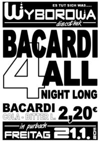 Bacardi 4 all night long