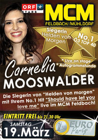 Cornelia Mooswalder live on stage!