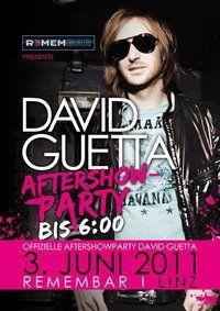 David Guetta -Offizielle Aftershow-Party