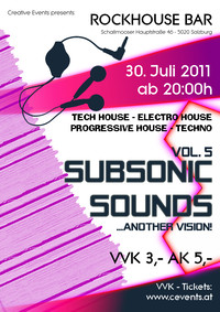 Subsonic Sounds - another Vision!