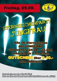 Sternzeichenparty Jungfrau
