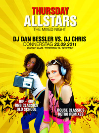 Thursday Allstars | Do/22/09/11 @ Scotch Club
