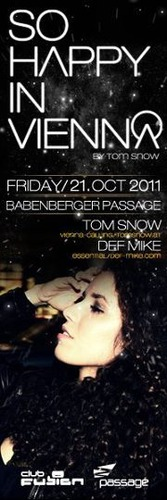CLUB FUSION presents SO HAPPY IN VIENNA by Tom Snow