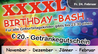 XXXXL Birthday Bash (Nov, Dez, Jan, Feb)