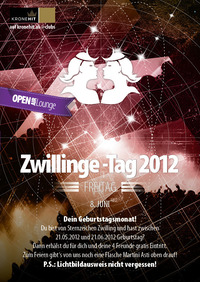 Zwillinge-Tag 2012@jaxx! Partyclub