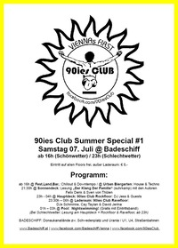 90ies Club  Summer Special #1@Badeschiff