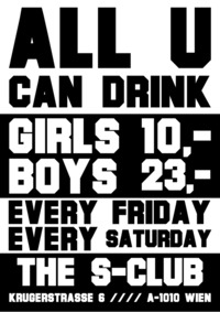 All u can Drink - Unlimited.@S-Club
