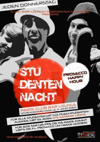 Studenten Nacht u. Prosecco Happy Hour