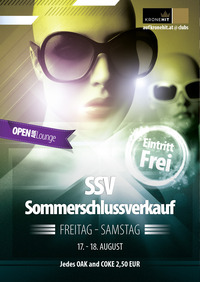SSV Sommerschlussverkauf@jaxx! Partyclub