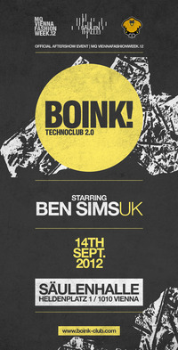 Boink! with Ben Sims | Official MQ Vienna Fashion Week Aftershow