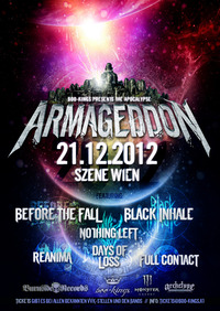 Armageddon 2012 Before The Fall, Black Inhale u.a.