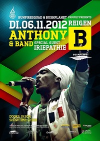 Anthony B & Band Freedom Fighter Tour