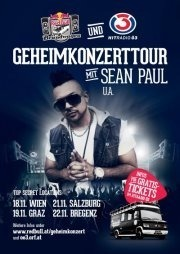 Red Bull Brandwagen & 3 auf Geheimkonzerttour mit Sean Paul