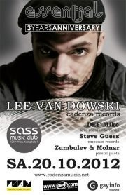 Essential 3 Years Anniversary pres Lee Van Dowski