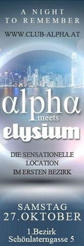 Alpha meets Elysium - die sensationelle Location im 1 Bezirk
