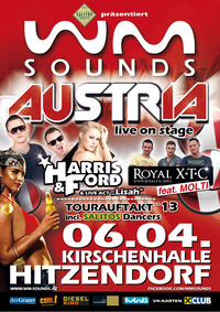 WM-Sounds Tourauftakt mit Harris & Ford und Royal Xtc feat. Molti