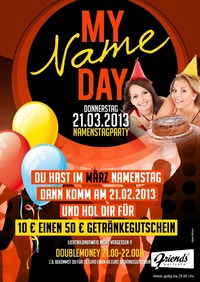 Donnerstag Special:: My Name DAY