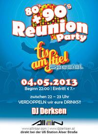 80's + 90's Reunion Party / Eis am Stiel - Special