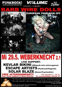 Night Of Rock & Punk - Barb Wire Dolls European Tour Kick Off