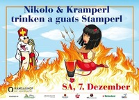 Nikolo  Kramperl trinken a guats Stamperl