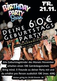 Deine 60 Euro Geburtstagsparty