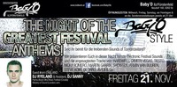 The Night Of The Greatest Festival Anthems