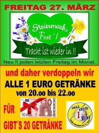 Steiermark Fest´l März@1-Euro-Bar