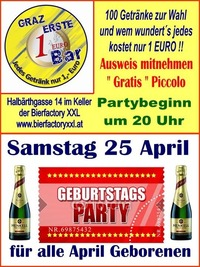 Geburtstags Party April