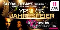 21 Jahre - Ypsilon Jahresfeier - Global Deejays